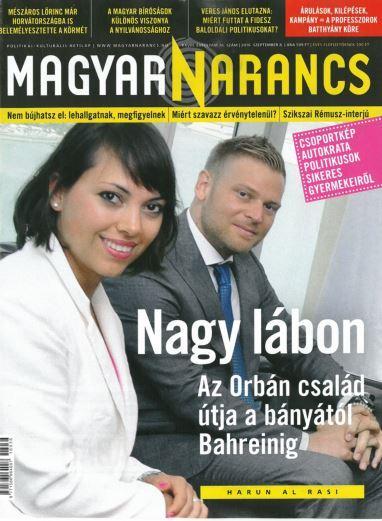 MAGYAR NARANCS FOLYÓIRAT - XXVIII. ÉVF. 36. SZÁM, 2016. SZEPTEMBER 8.