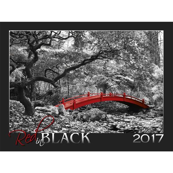 NAPTÁR RED IN BLACK 2017 56X42CM