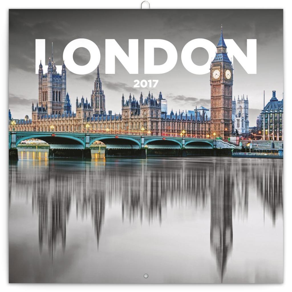 PG NAPTÁR - LONDON, GRID CALENDAR 2017, 30 X 30 CM