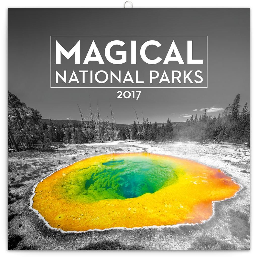 PG NAPTÁR - MAGICAL NATIONAL PARKS JAKUB KASL, GRID CALENDAR 2017, 30 X 30 CM