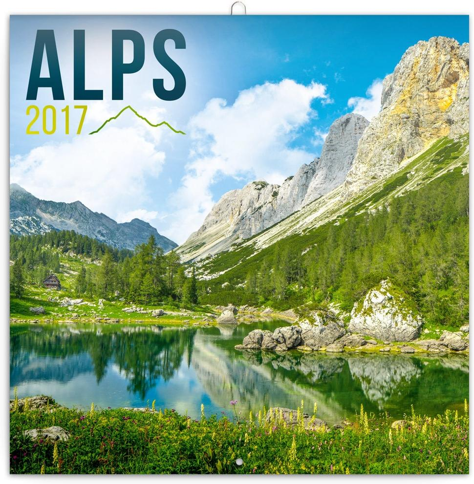 PG NAPTÁR - ALPS, GRID CALENDAR 2017, 30 X 30 CM