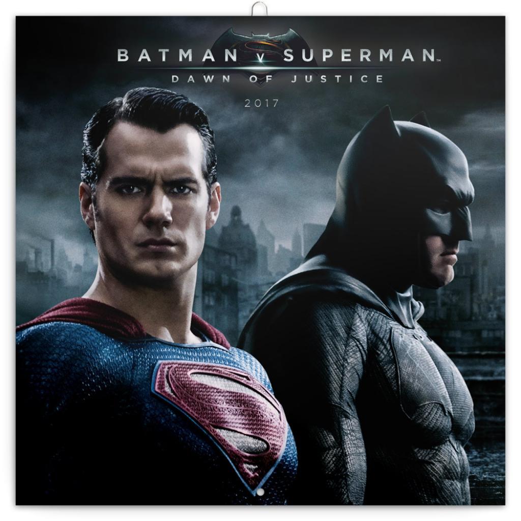 PG NAPTÁR - BATMAN V SUPERMAN, GRID CALENDAR 2017, 30 X 30 CM