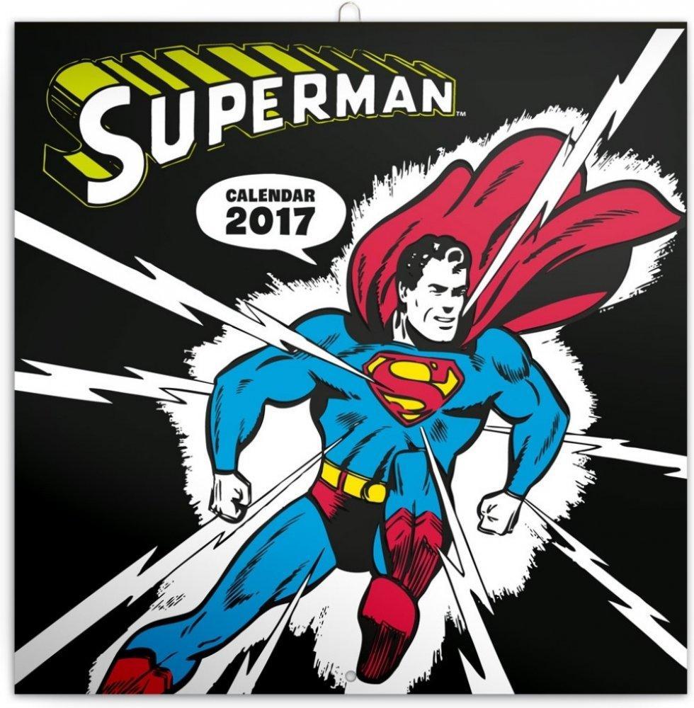 PG NAPTÁR - SUPERMAN, GRID CALENDAR 2017, 30 X 30 CM