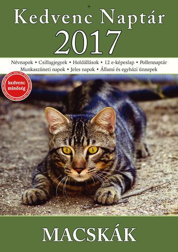 - KEDVENC NAPTÁR 2017 - MACSKÁK