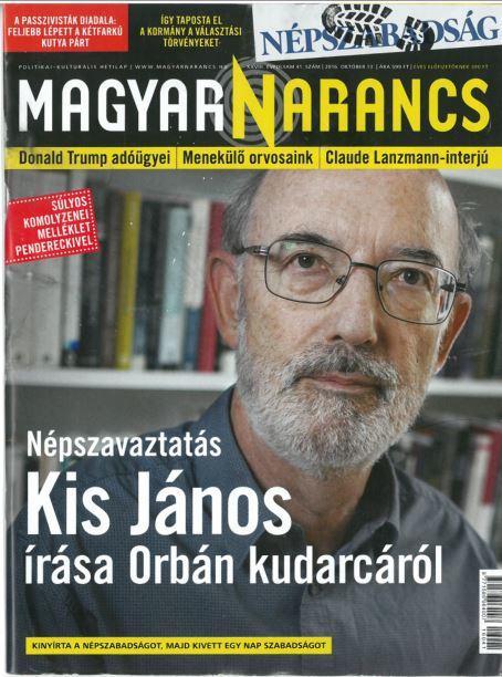 MAGYAR NARANCS FOLYÓIRAT - XXVIII. ÉVF. 41. SZÁM, 2016. OKTÓBER 13.