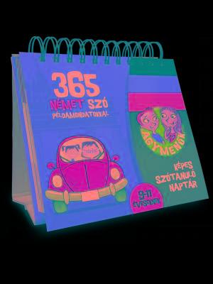 365 NÉMET SZÓ PÉLDAMONDATOKKAL 9-11 ÉVESEKNEK - AGYMENÕK KÉPES SZÓTANULÓ NAPTÁR