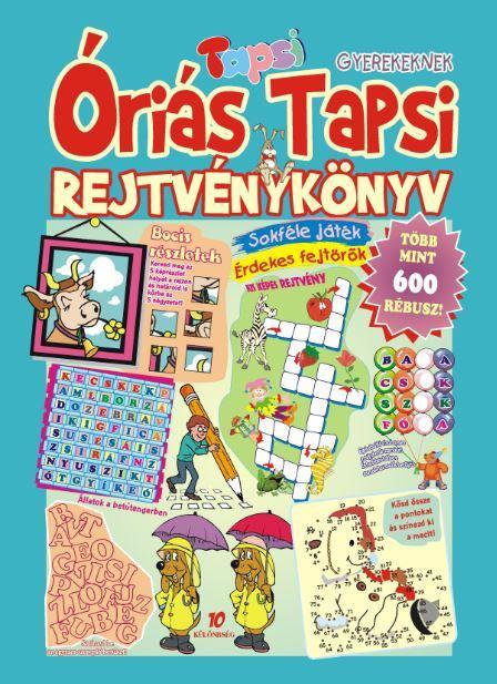 ÓRIÁS TAPSI - REJTVÉNYKÖNYV