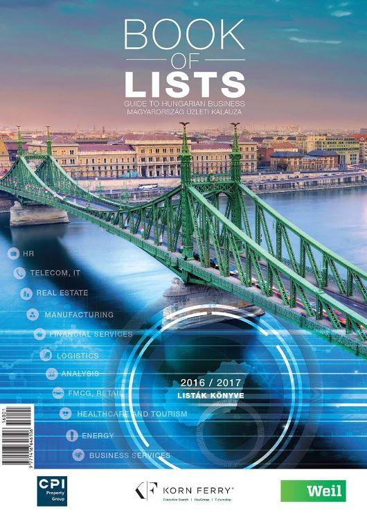 BOOK OF LISTS - LISTÁK KÖNYVE 2016/2017