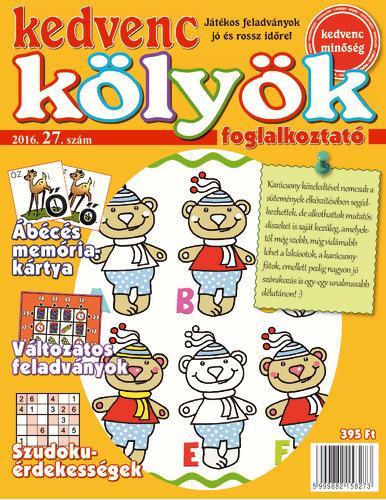 KEDVENC KÖLYÖK FOGLALKOZTATÓ 27.