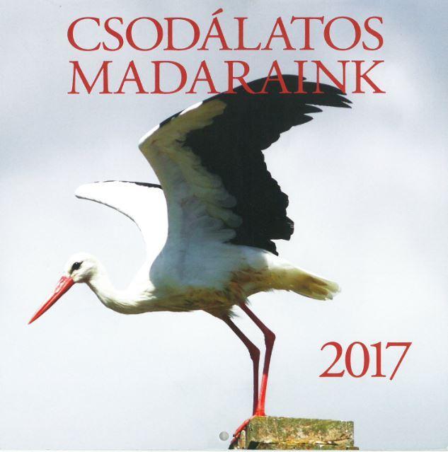 CSODÁLATOS MADARAINK - NAPTÁR 2017