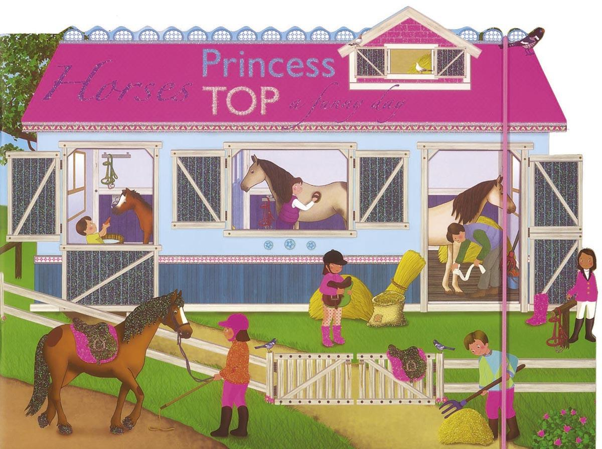 - - PRINCESS TOP - HORSES: A FUNNY DAY (PINK)