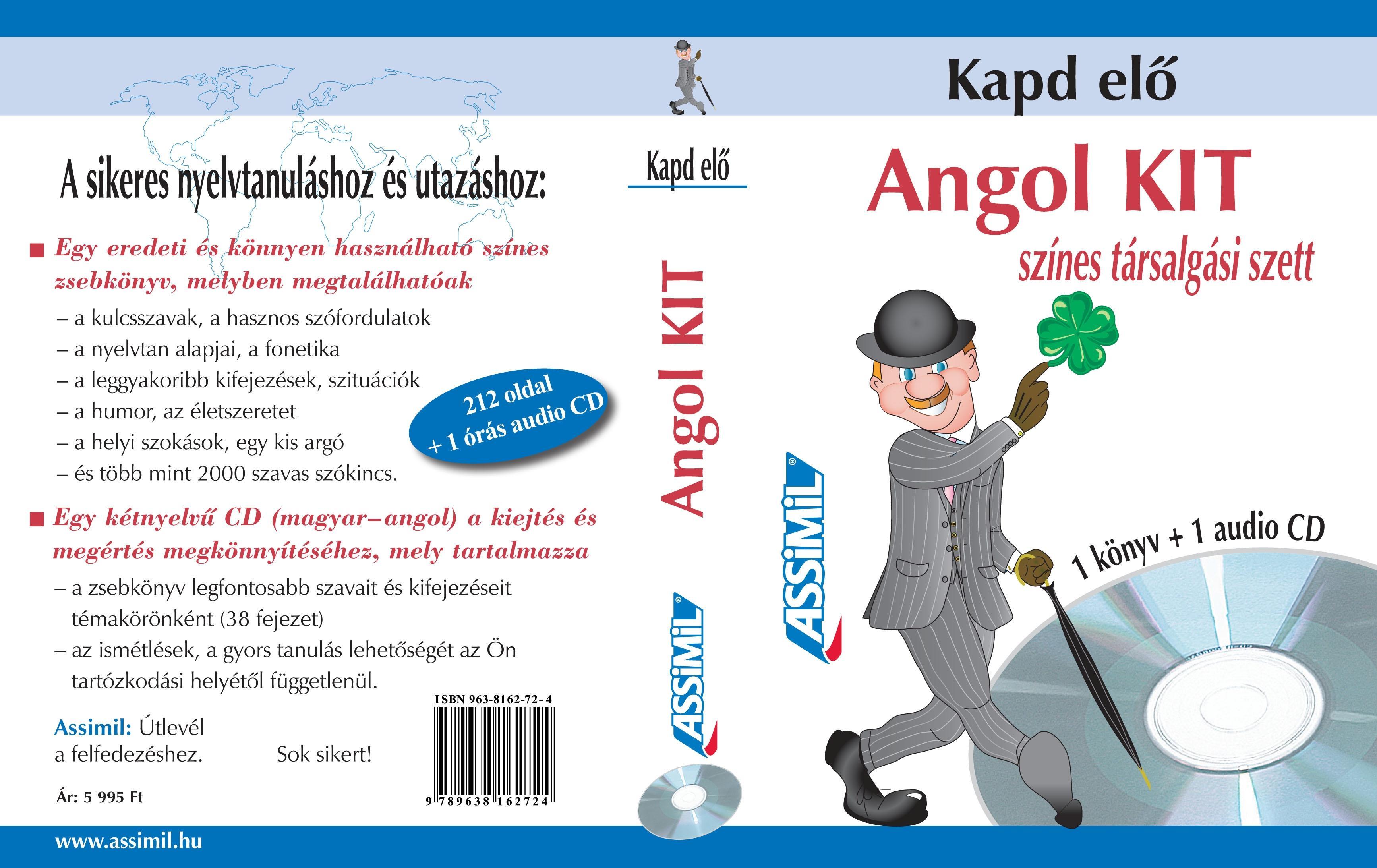 ANGOL KIT - KAPD ELŐ, SZÍNES TÁRSALGÁSI SZETT (KÖNYV+CD)