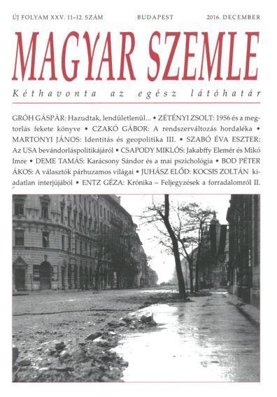 MAGYAR SZEMLE - 2016. DECEMBER