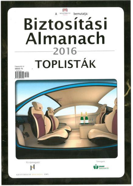 BIZTOSÍTÁSI ALMANACH 2016 - TOPLISTA