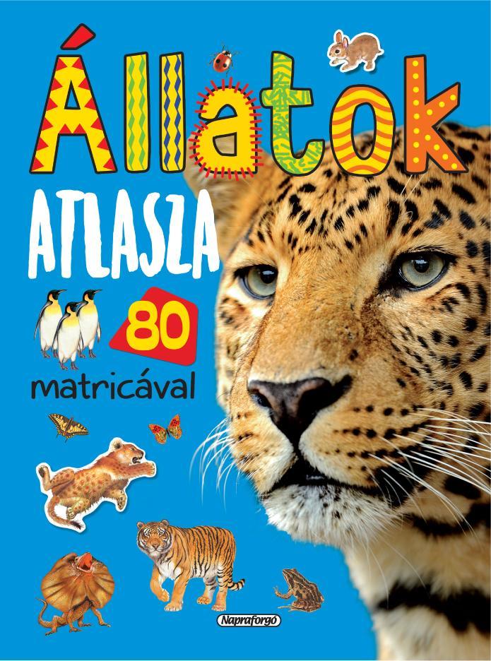ÁLLATOK ATLASZA 80 MATRICÁVAL - ÚJ, KÉK