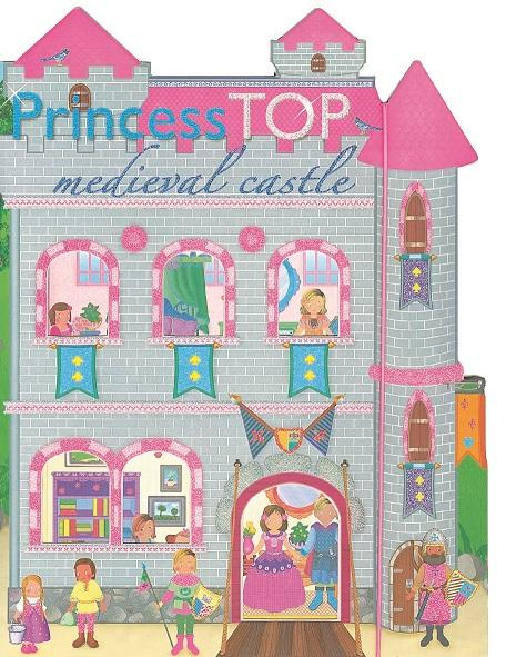 - - PRINCESS TOP - MEDIEVAL CASTLE (GREY)