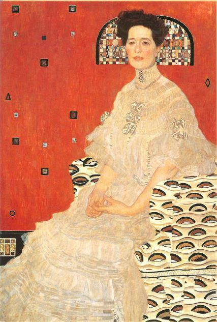 GUSTAV KLIMT KÉPESLAP - BILDNIS FRITZA RIEDLER/FRITZA RIEDLER PORTRÉJA, 1906