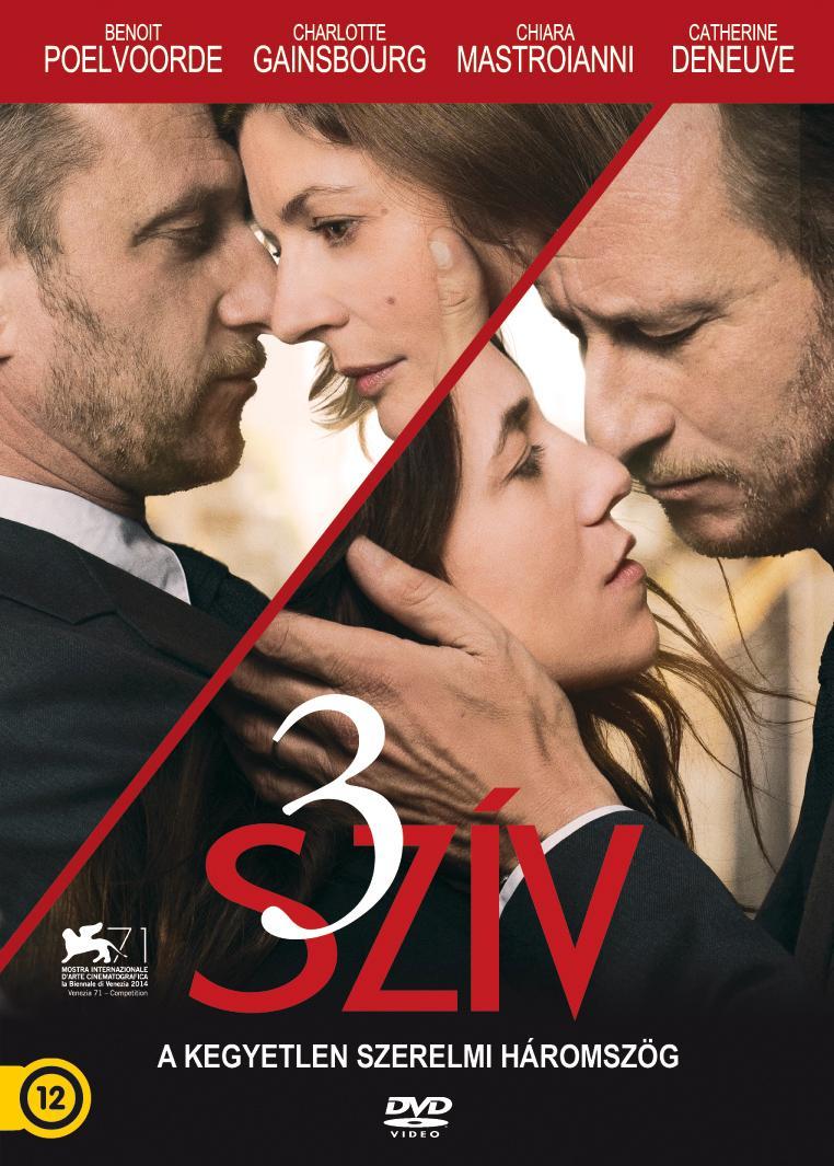 - 3 SZÍV - A KEGYETLEN SZERELMI HÁROMSZÖG - DVD -