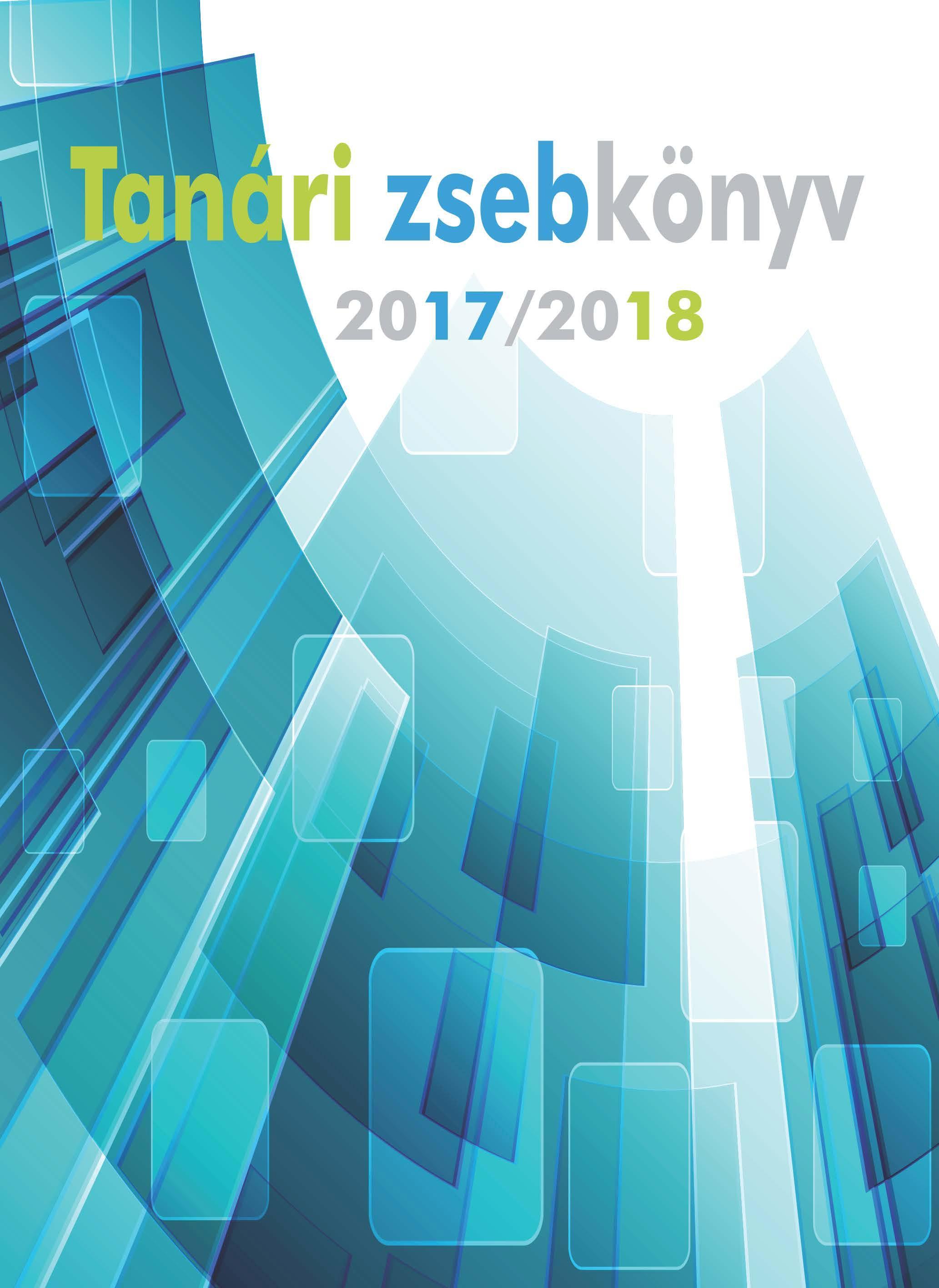 TANÁRI ZSEBKÖNYV 2017/2018 - ÜVEGPALOTA