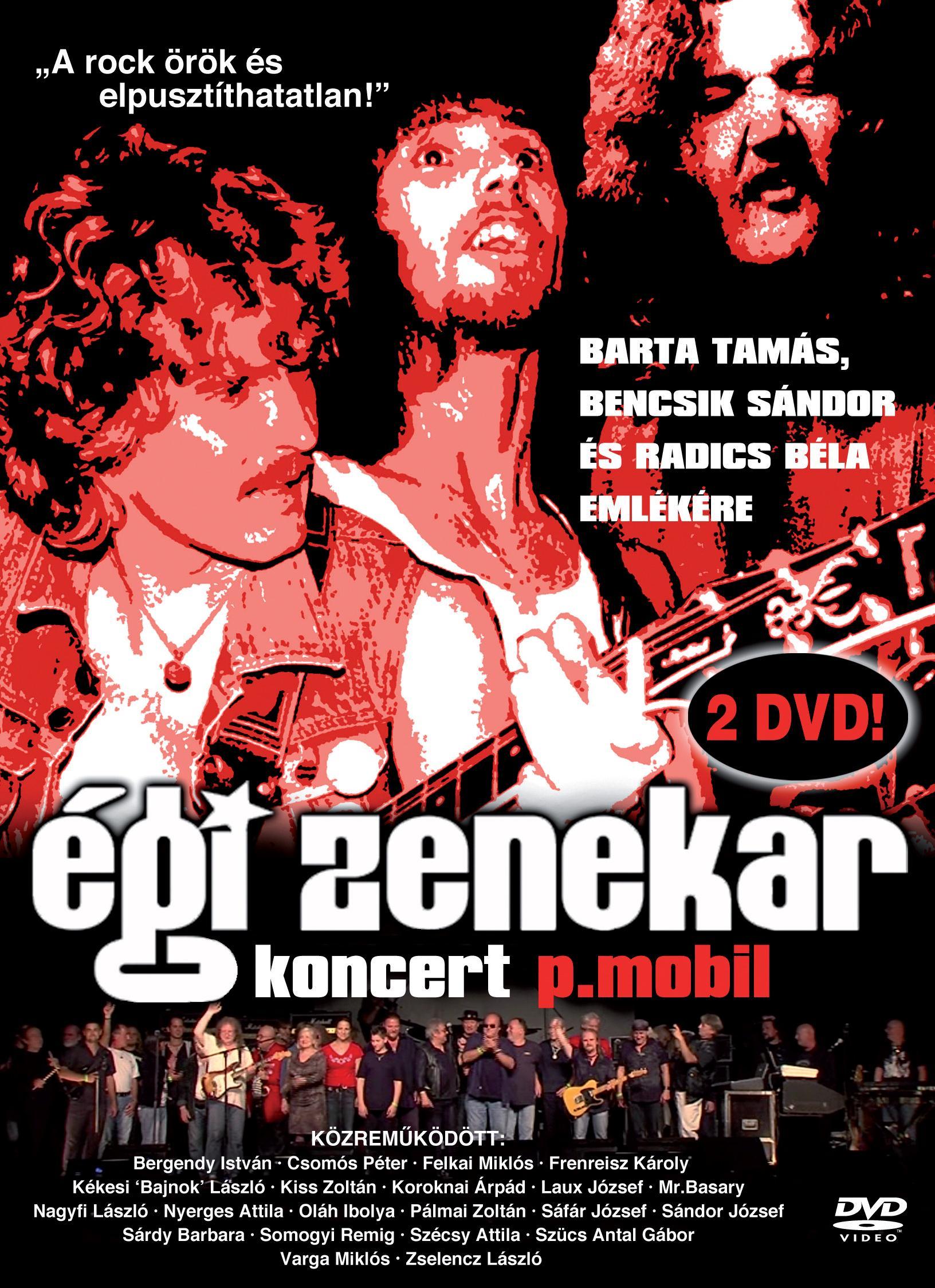 P.MOBIL - ÉGI ZENEKAR KONCERT - P.MOBIL - DUPLA DVD -