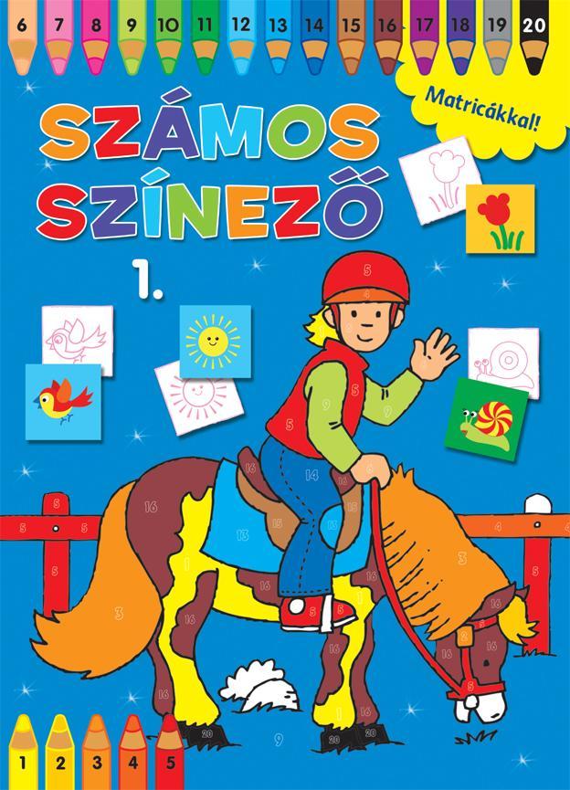 SZÁMOS SZÍNEZŐ MATRICÁKKAL 1. - KÉK