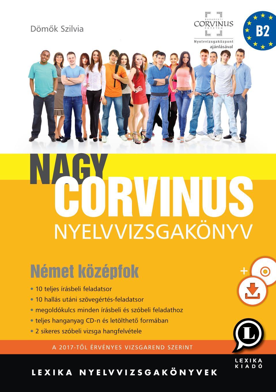 NAGY CORVINUS NYELVVIZSGAKÖNYV - NÉMET KÖZÉPFOK + CD