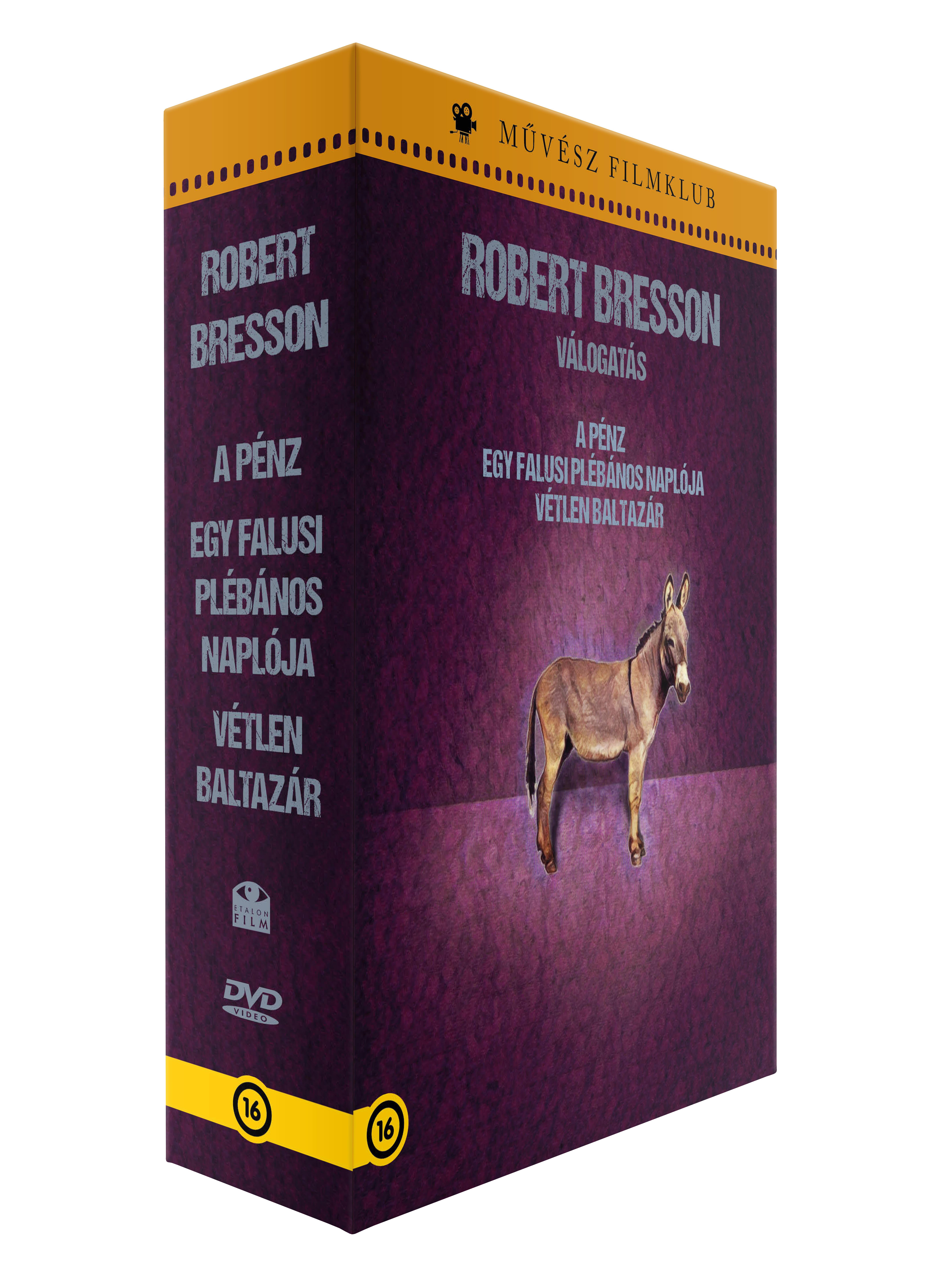 ROBERT BRESSON VÁLOGATÁS (A FRANCIA FILMMŰVÉSZET REMEKEI I.) - DVD (DÍSZDOBOZ)