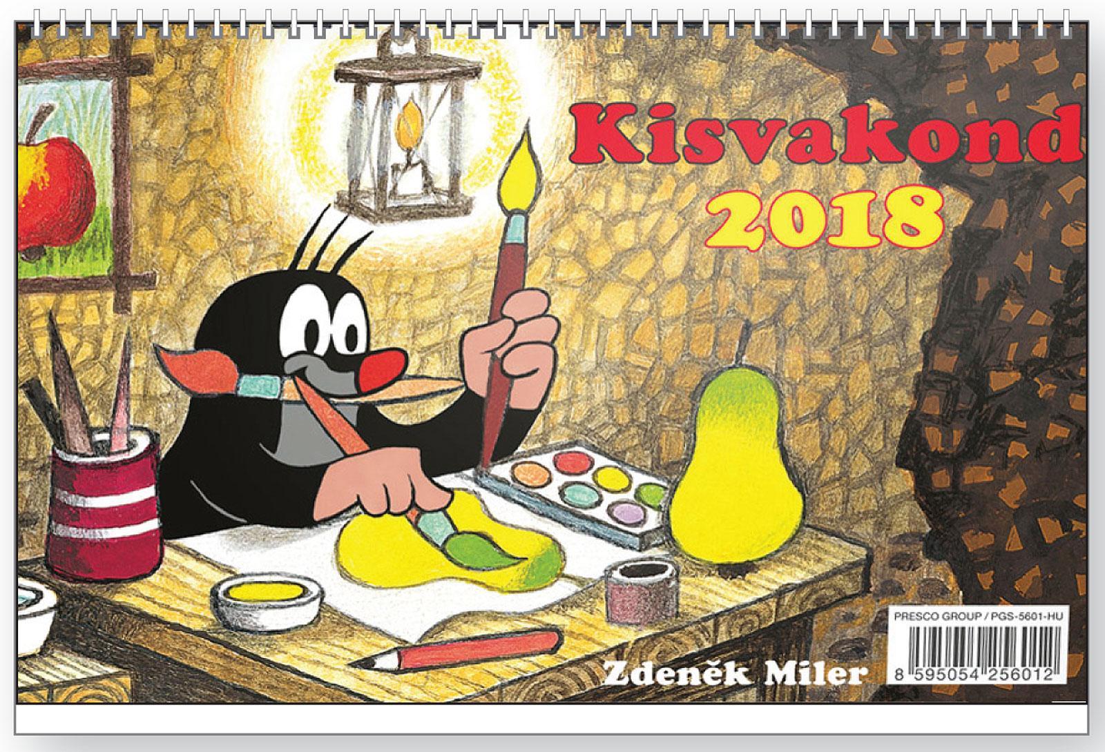 KISVAKOND KÉPES ASZTALI NAPTÁR 2018