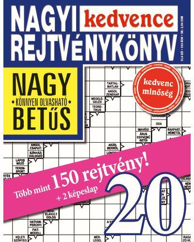 NAGYI KEDVENCE REJTVÉNYKÖNYV 20.