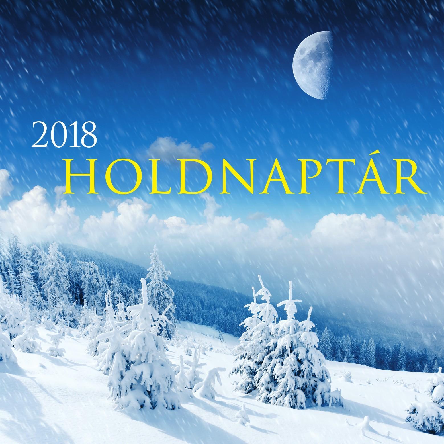 - - HOLDNAPTÁR 2018 - NAPTÁR 33X33 CM