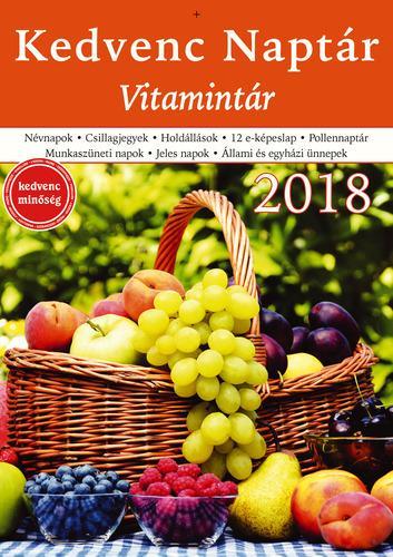 KEDVENC NAPTÁR 2018 - VITAMINTÁR