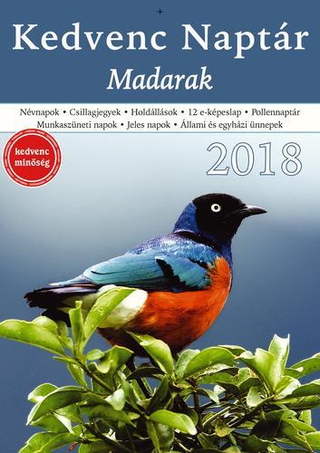KEDVENC NAPTÁR 2018 - MADARAK