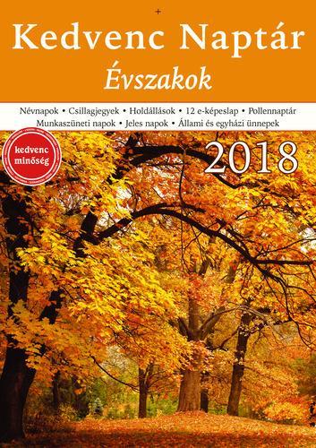 KEDVENC NAPTÁR 2018 - ÉVSZAKOK
