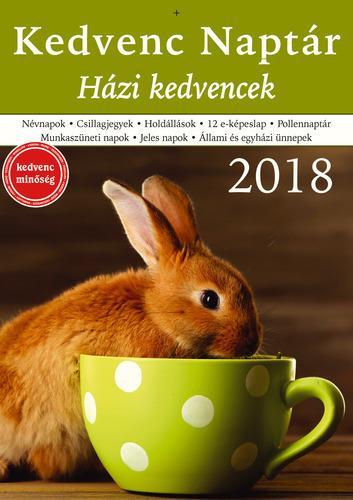 KEDVENC NAPTÁR 2018 - HÁZI KEDVENCEK