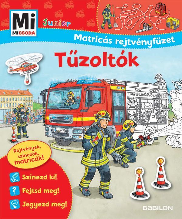 MJM11b - TŰZOLTÓK - MATRICÁS REJTVÉNYFÜZET - MI MICSODA JUNIOR (ÚJ!)