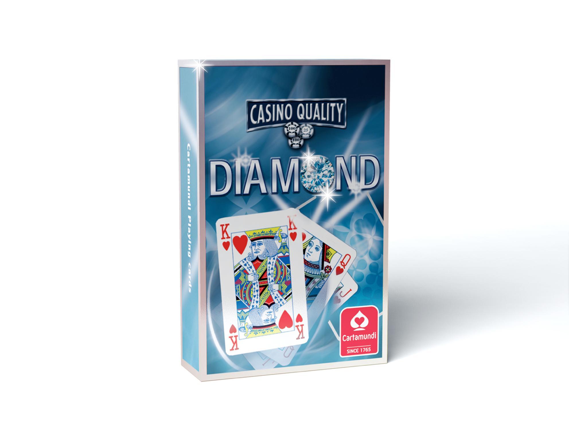 DIAMOND SZIMPLA BRIDGE KÁRTYA, KÉK HÁTLAPPAL