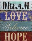 337674 - PAPÍRTASAK M.DREAM/LOVE/W/HOPE 26*32