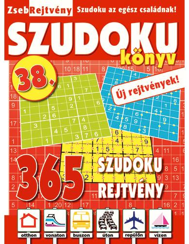 ZSEBREJTVÉNY SZUDOKU KÖNYV 38.