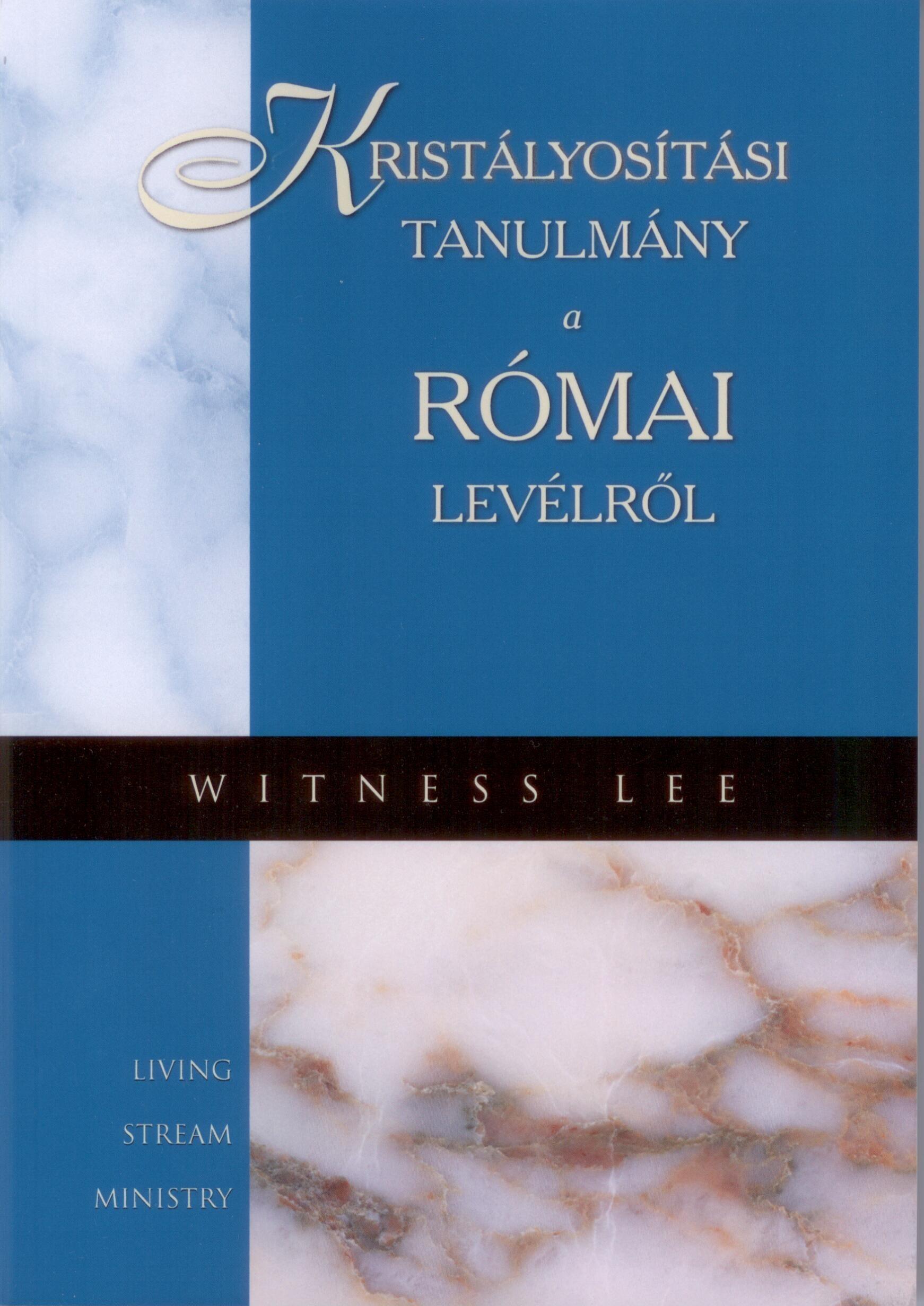 KRISTÁLYOSÍTÁSI TANULMÁNY A RÓMAI LEVÉLRÕL