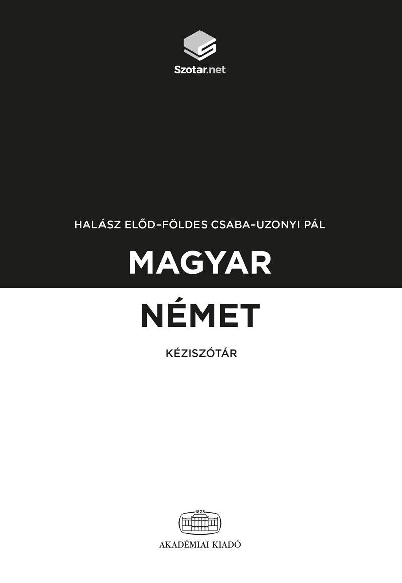 MAGYAR-NÉMET KÉZISZÓTÁR + ONLINE SZÓTÁRCSOMAG
