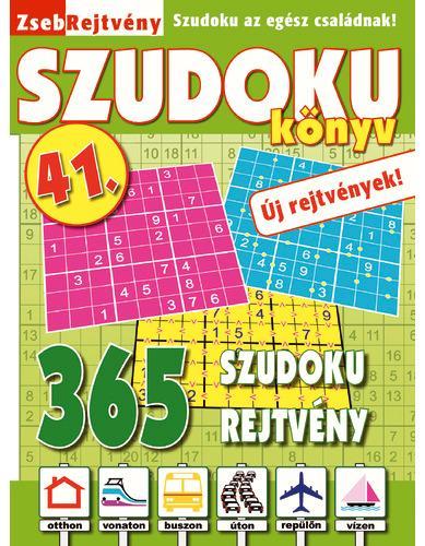 ZSEBREJTVÉNY SZUDOKU KÖNYV 41.