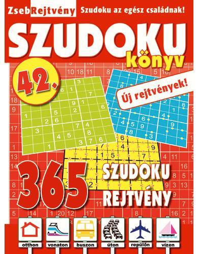 ZSEBREJTVÉNY SZUDOKU KÖNYV 42.