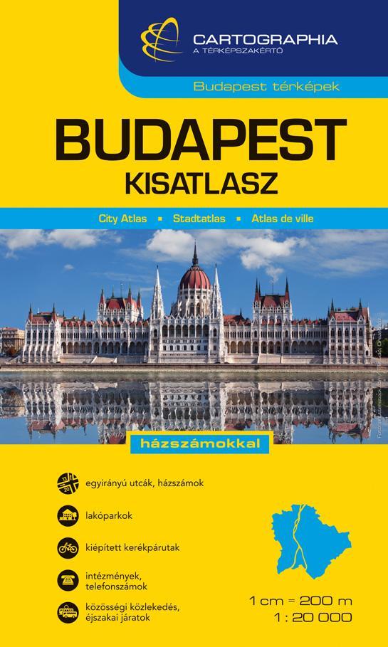 """BUDAPEST KISATLASZ - 1:20000 - SPIRÁLOS - CART. - """"SC"""" -"""