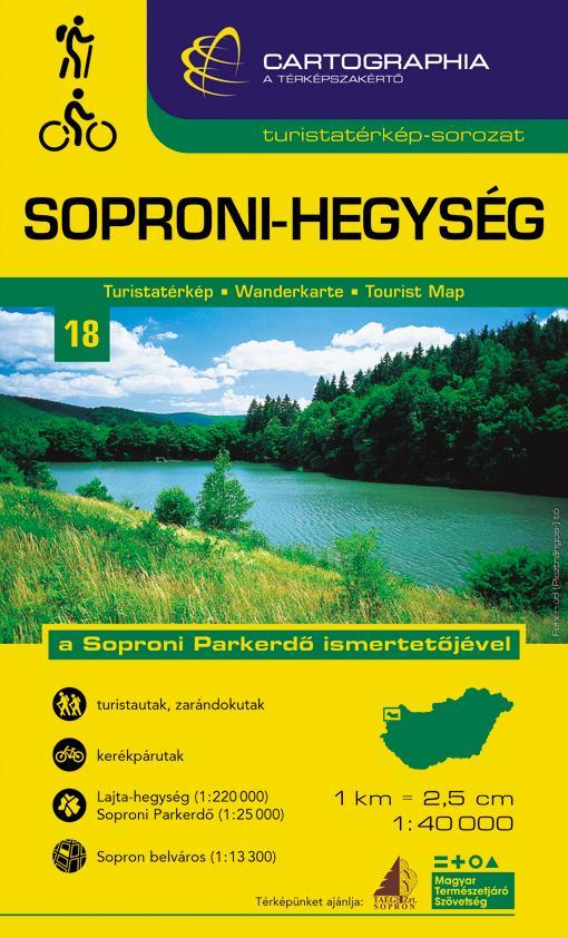"""SOPRONI-HEGYSÉG TURISTATÉRKÉP - """"SC"""""""