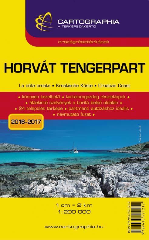 """HORVÁT TENGERPART ORSZÁGRÉSZTÉRKÉP - CART. - """"SC"""" -"""