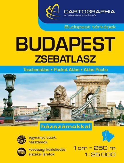 """BUDAPEST ZSEBATLASZ - 1:25000 - CART. - """"SC"""" -"""