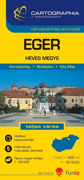 """EGER - HEVES MEGYE - VÁROSTÉRKÉP - """"SC"""" -"""